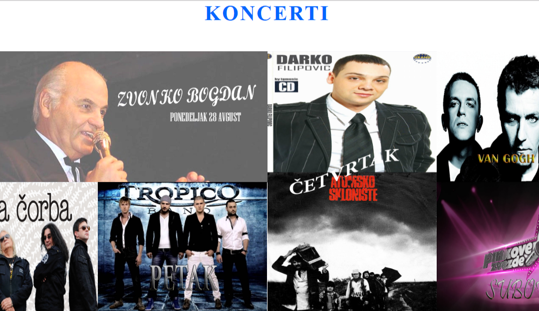 Програм Роштиљијаде 28.август – 3.септембар